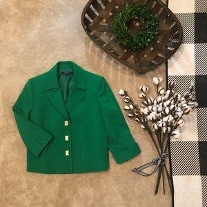 Green Tahari blazer